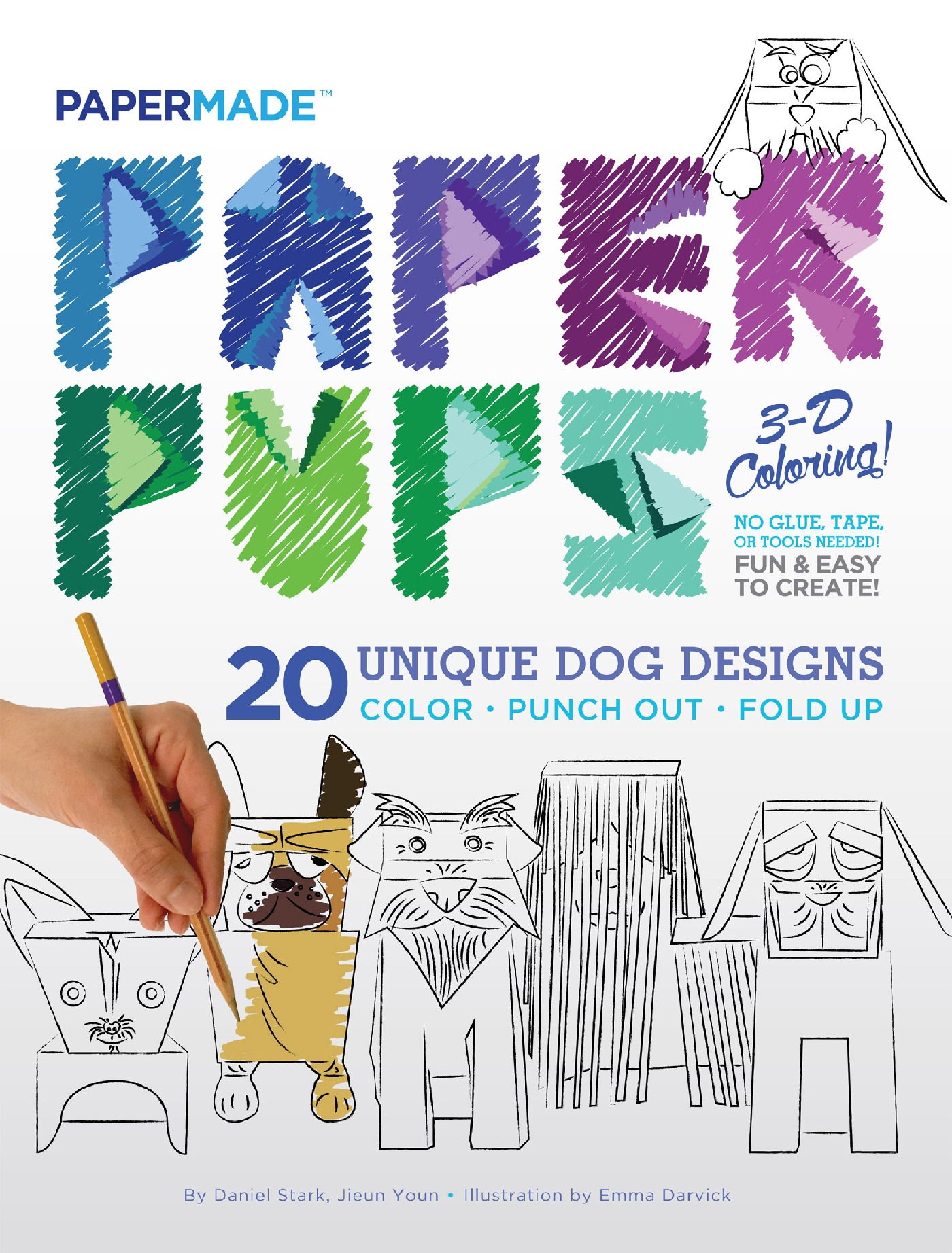 make your own dog breed wpaper pups 3d coloring book courtesy of papermade